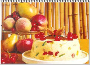 pudding aux fruits confits