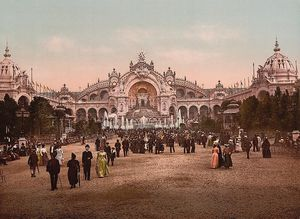 le chateau deau and plaza exposition universal 1900 paris f