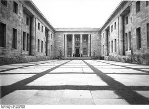 nouvelle chancelerie, cour d'honneur, photo 1939