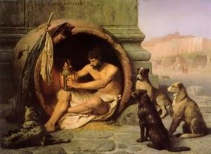 Diogene dans son amphore.