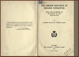 the french influence in english literature from the accessi