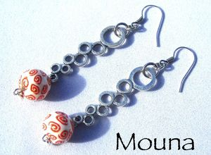 Boucles L'orange rouge 4 DISPONIBLE: 15 euros.