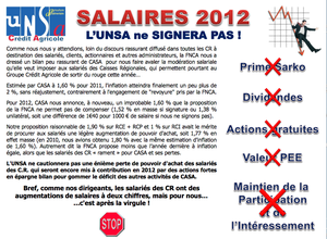 Salaire 2012