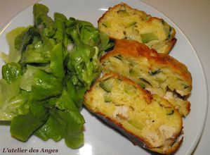 Cake poulet courgette
