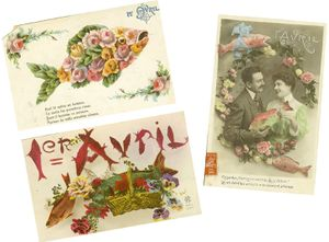 Cartes postales poissons d'avril[1]
