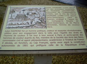 Buanes Plaque commémorative Julien Raimond