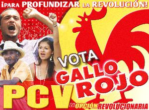 vota gallo rojo PCV