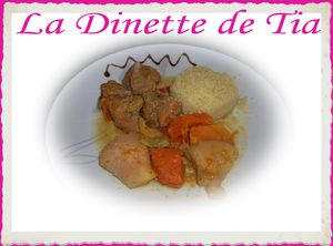 tajine de veau aux coings et potiron la dinette de tia. Black Bedroom Furniture Sets. Home Design Ideas