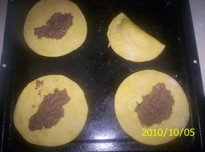 Filling Faux Jamaican Patties