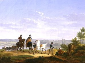 Landscape-with-Figures-and-Horses-xx-Bernard-Edouard-Swebac