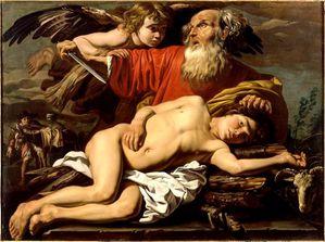 Stomer Mathias 1600-v1650 Sacr d Abraham huile sur toile 1