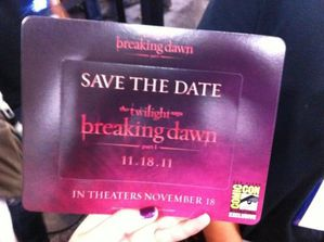 Breaking Dawn Promo Card - Various 3