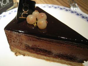 hoF - Caramel chocolate mousse cake
