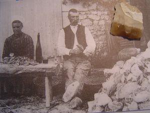 Jean-Jacques Dutrieux, Carte postale, Tailleur de Silex,