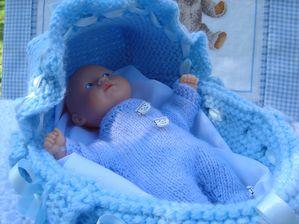 couffin 21 cm bleu