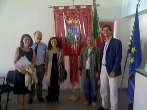 veso, province de Monza, avec le sindaco et les representan