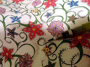 Le jardin du mixed media bienvenue sur le blog mixed media et free style vos jardini res - Couper papier peint sans dechirer ...