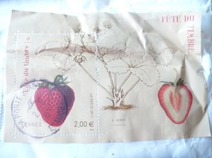 timbres fraise