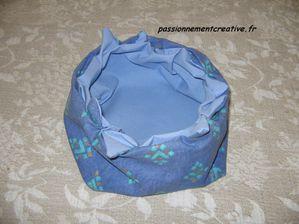 panier couture bleu