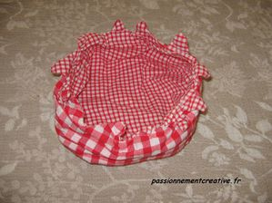 panier couture rouge
