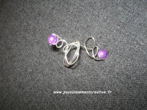bague alu violette