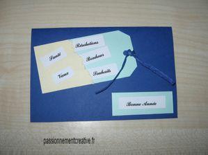 Carte de voeux bleue