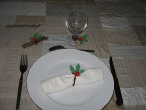 déco de table de noel