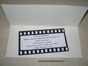 faire part cinema 2 - Faire Part Mariage Theme Cinema