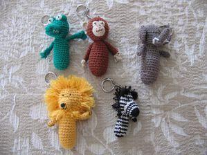 Porte clés animaux de la savane