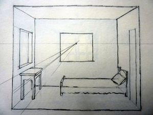 Dessiner une piece en perspective frontale solutions for Chambre en perspective