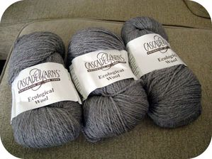Ecological wool gris