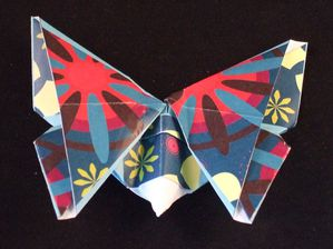 Origami papillon exemple 1