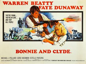 BONNIE AND CLYDE - UK Poster by Tom Chantrell