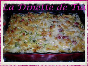Gratin Courgettes Jambon