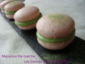 macarons thé matcha