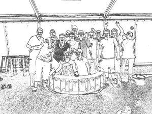 Test de la piscine 14 juillet 2009 105 effet dessin noir et