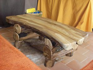 table basse hetre massif
