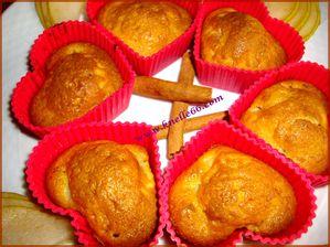Muffins à la poire-cannelle