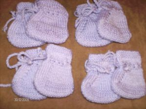 chaussons mauves