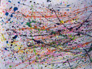 Jackson pollock l 39 art de rien for Peindre sur du plastique