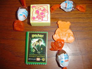 03 tampon, jeu 7 famille Harry Potter,crayon forme ours