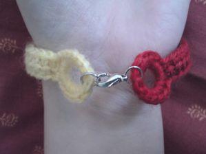bracelet rouge et or (2)
