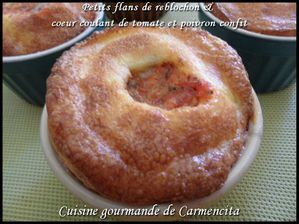 Petits flans de reblochon &amp; coeur coulant de tomat-copie-1