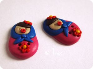Scrap Inès Fimo Polymer Clay Matriochka Poupées Russes 6