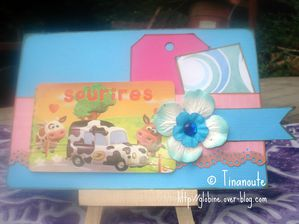 Claudine Tinanoute carte sketch card chez Scrap Inès