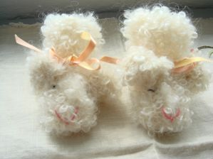 tricot chaussons moutons d