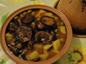 Plat aux aubergines et olives