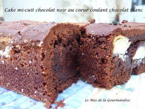 Cake mi-cuit choco