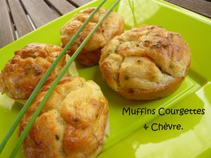 muffins courgettes & chèvre