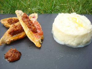 Filet de Rouget sauce pistou de Tomates séchées -copie-1
